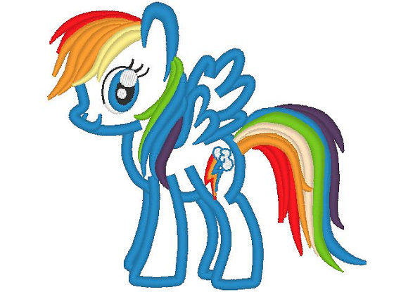 Rainbow Dash Pony Machine Embroidery From Designsembroidery On
