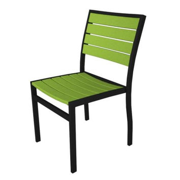 2 Patio Chairs - Lime Green With Black Frame