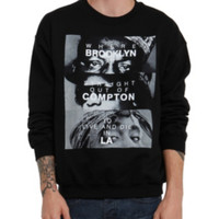 The Notorious B.I.G. Eazy-E Tupac Brooklyn Compton LA Crewneck Sweatshirt