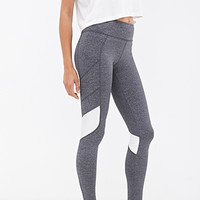 FOREVER 21 Colorblocked Performance Leggings