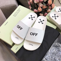 OFF WHITE C/O VIRGIL ABLOH 19SS Arrow letters slippers