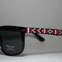Beaded Sunglasses Native American Tribal Print Mens