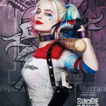 Margot Robbie as Harley Quinn in Suicide Squad 2016 Fantasy/Crime Movie POSTER