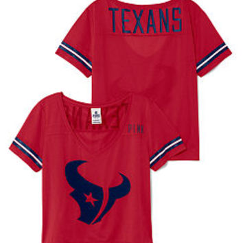 Houston Texans Cropped V-Neck Athletic Jersey - PINK - Victoria's Secret