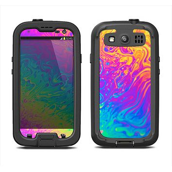 The Neon Color Fushion V2 Samsung Galaxy S3 LifeProof Fre Case Skin Set