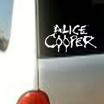 ALICE COOPER MUSIC BAND VINYL DECAL STICKER CAR TRUCK LAPTOP WHITE