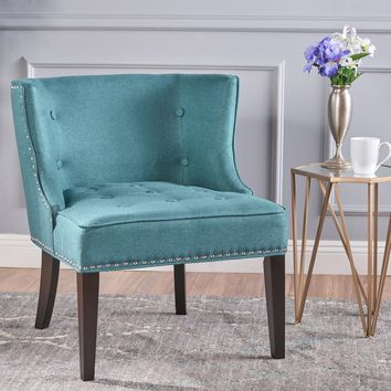 Aria Fabric Occasional Wing Back Chair