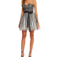 Masquerade Lace Corset Bodice Party Dress | Dillards