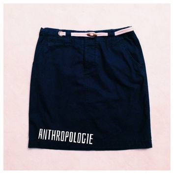 Anthropologie Nautical Pencil Skirt