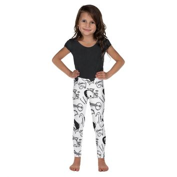 Music Note Leggings Kid's Leggings