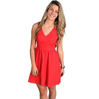The Augusta Dress in Red by Lauren James - FINAL SALE