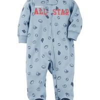 Zip-Up All-Star Cotton Sleep & Play