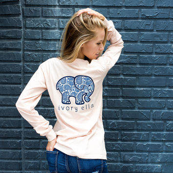 Classic Fit Peach Paisley Tee