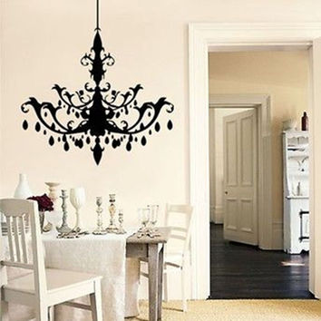 Large Chandelier Vinyl Wall Decal Sticker