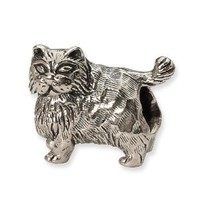 Reflection Beads Sterling Silver Persian Cat Bead (11 x 13 mm)