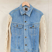 Vintage Lee Sweater Sleeve Denim Jacket - Urban Outfitters