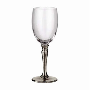 Match Pewter Classic Crystal Red Wine Glass