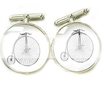 Vintage Bike Cufflinks Bicycle Cycle Men Cuff links personalized keepsake gift Wedding father cuff links Birthday
