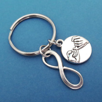 Infinity, Promise, Keychain, Keyring, Key chain, Key ring, Simple, Gift, Birthday, Christmas, Friendship, Jewelry, Accessory