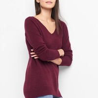 V-neck raglan sweater | Gap