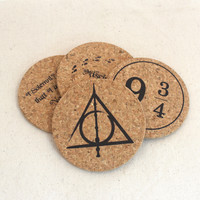 Harry Potter Themed Cork Coaster Set of 4
