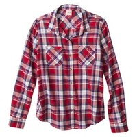 Mossimo Supply Co. Juniors Long Sleeve Button Down Top - Assorted Colors