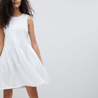 ASOS Sleeveless Button Smock Dress at asos.com