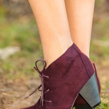 Wishful Thinking Booties-Plum