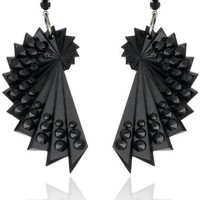 "TARINA TARANTINO ""Black Dahlia"" Spiral Shell Drop Earrings"