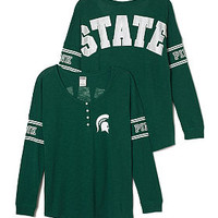 Michigan State University Long Sleeve Henley - PINK - Victoria's Secret