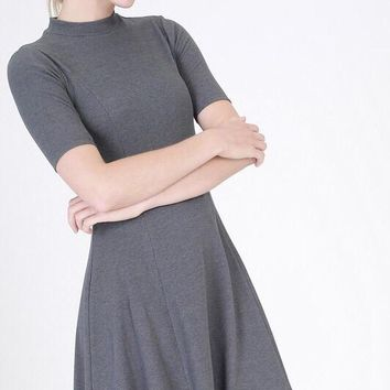 Romina Knit Dress - Charcoal