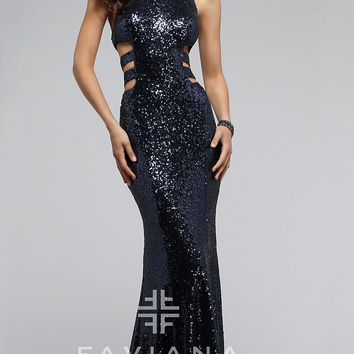 Long Sequin Faviana Prom Dress FA-7705