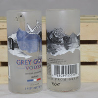 Grey Goose Shot Glasses, Upcycled Liquor Bottles, Set of 2