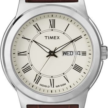 Timex Mens Classic Casual Brown Strap Watch