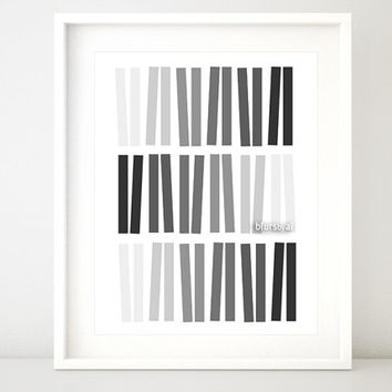 Geometric ombre art wall poster, scandinavian, pdf jpg printable poster. Black and white poster, minimalist decor - ab 003 INSTANT DOWNLOAD