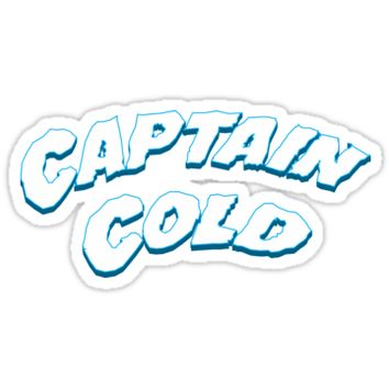 'Captain Cold' Sticker by WaiterJames