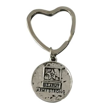 Army Strong Heart Keychain