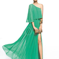 Fantastic Unique A-line One-shoulder Half-sleeves Chiffon Prom Dress  from SinoAnt