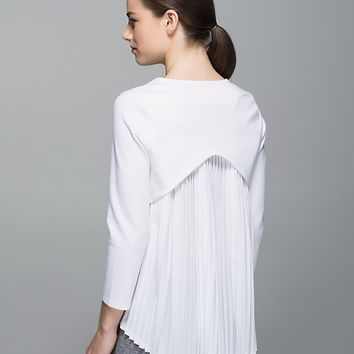 Pleat On Long Sleeve