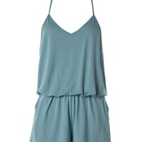 Blue Green Romper