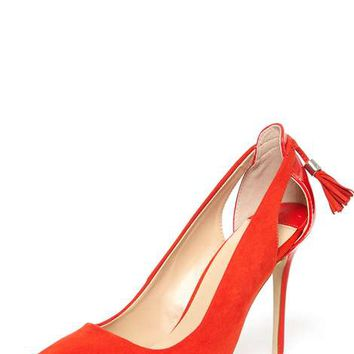 Red 'Eloise' Tassel Back Court Shoes - View All New In - New In