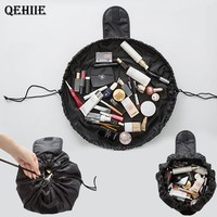 QEHIIE Brand Cosmetic Bag Large Capacity Drawstring Beautician Travel Portable Cosmetic Bag Organizer Required Free Shipping