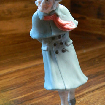 "Charles Dickens ""Ebenezer Scrooge"" Vintage Hallmark Ornanament from the 1991 A Christmas Carol Collection - Damaged Box"