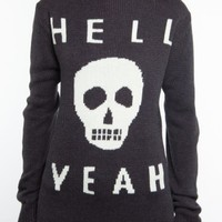 Glamour Kills Clothing - Girls Skull Yeah Knit Sweater