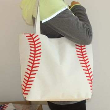 Baseball Canvas Bag Shoulder