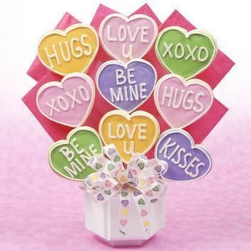 valentine conversation heart bouquet