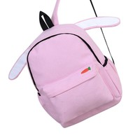 Cute Bunny Carrot School Backpack