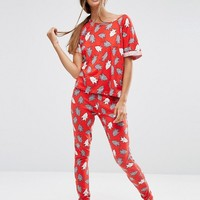 ASOS Shark Print Tee & Legging Pyjama Set at asos.com