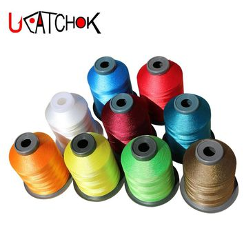 1spools/pack Rod Guide Ring Tying Thread 2000M 150D 11 colors choice Rod DIY Repair Multi-Braided Guide Replacement Wrap Refit