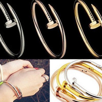 Beauty NEW SERIES Gold Plated Silver Plated Nail Bracelet = 1958115204